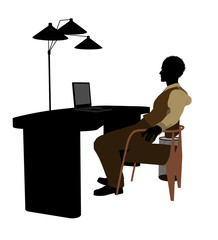 African American Male Business Silhouette
