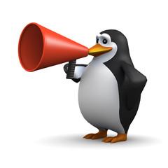 Bullhorn penguin