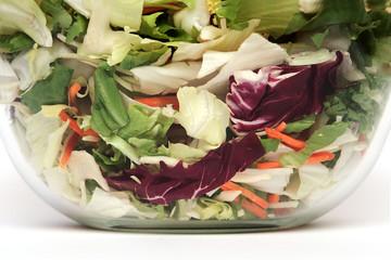 Ausschnitt aus einer Salatschüssel