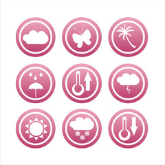 set of 9 pink nature signs