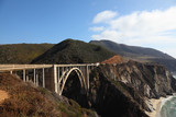 Huge viaduct on  Pacific coast USA poster