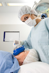 Young anesthesiologist