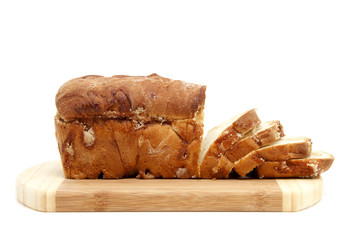 Sugar bread over white background