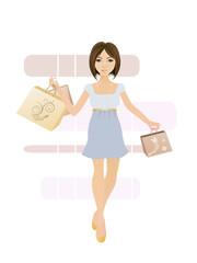 Shopping - junge Frau