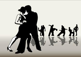 Tanzende Paare
