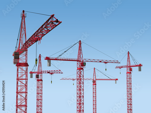 Five Cranes on Site