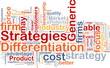 Differentiation strategies background concept