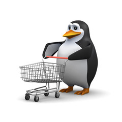 Shopping penguin