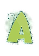 letra A alfabeto ecology