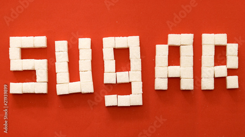 "Word ""sugar"" from sugar slices"
