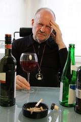 Kopfschmerzen wegen Alkohol und Zigaretten