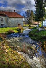 Ruisseau écologique  un jour d'automne