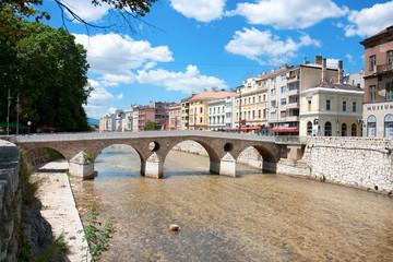 Bridge on Miljacka river in Sarajevo