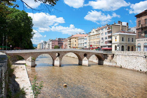 Bridge on Miljacka river in Sarajevo