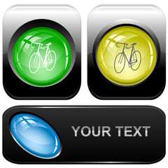 Bicycle. Vector internet buttons.