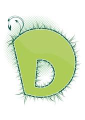 letra D alfabeto ecology