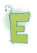 letra E alfabeto ecology