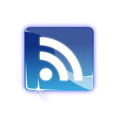 Picto serie bleu flux RSS - Icon RSS flow