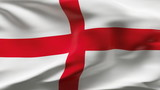 Creased England flag in wind in slow motion poster