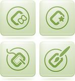 Olivine Square 2D Icons Set: Computer Stuff poster