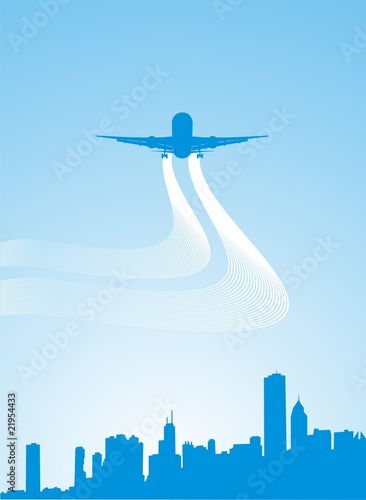 airplane flying in sky