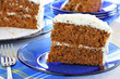 Healthy Carrot Cake with Cream Cheese Pecan Frosting