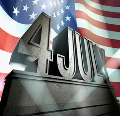 4th july monument usa independence day