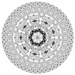 arabesque pattern round
