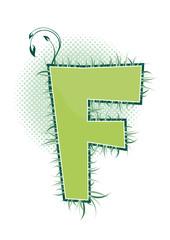 letra F alfabeto ecology