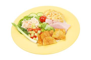 Ham and quiche salad