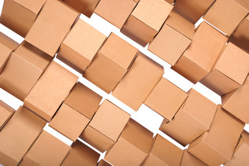 Background stacked cardboard boxes