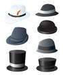 Man's fancy hat set