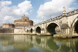 Older Bridge and Castle Sant Angelo in Rome