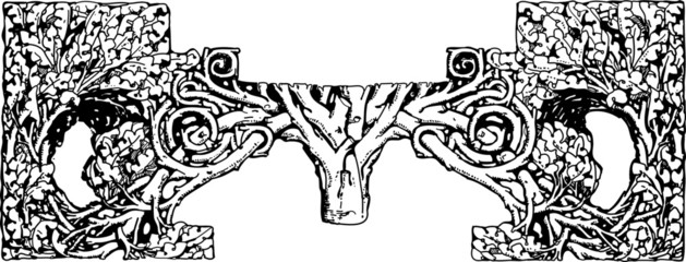 Decorazione Albero della Vita - fregio grafico
