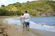 couple se promenant au bord de l'eau