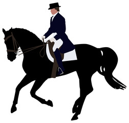 Silhouette of a Dressage Horse