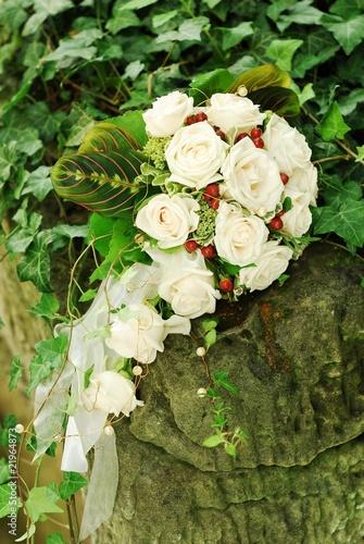 brautstrauss weisse rosen stockfotos und lizenzfreie bilder auf bild 21964873. Black Bedroom Furniture Sets. Home Design Ideas