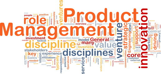 Product management background concept