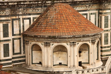 Detail of Basilica di Santa Maria del Fiore in Florence
