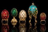 Fototapety Group Faberge eggs.