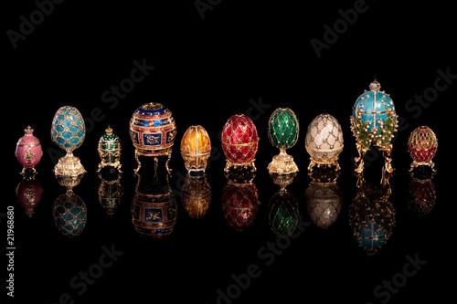 Leinwandbild Motiv Group Faberge eggs.