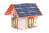 Euro house with solar moduls poster