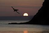 Spitfire above Devon