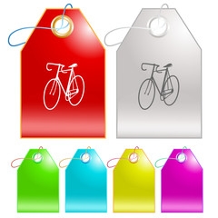 Bicycle. Vector tags.