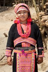 Portrait Akha Frau von Laos