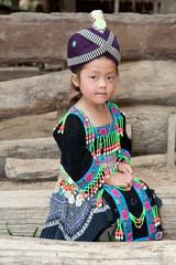 Hmong Mädchen von Laos