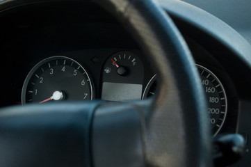 Speedometer of the car