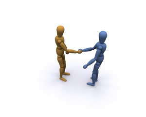Personen Hand reichen