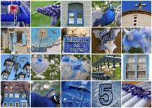 Kolor niebieski - kolaż