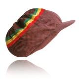 Brown Rasta Peak Dreadlocks hat poster